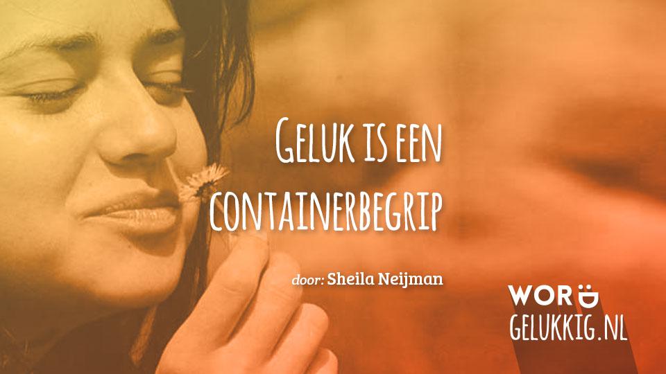 Geluk is een containerbegrip